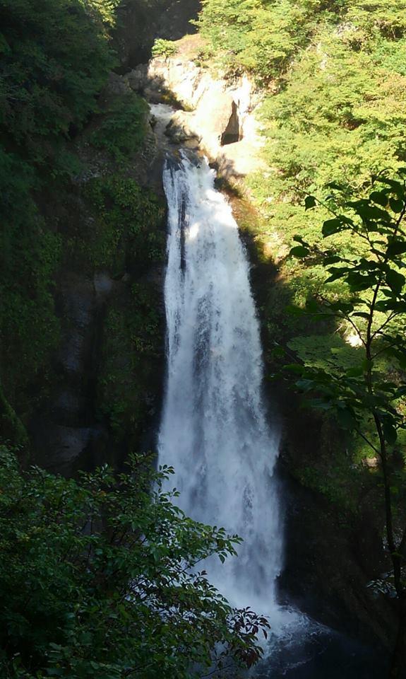 秋保大滝滝見台から見た光景